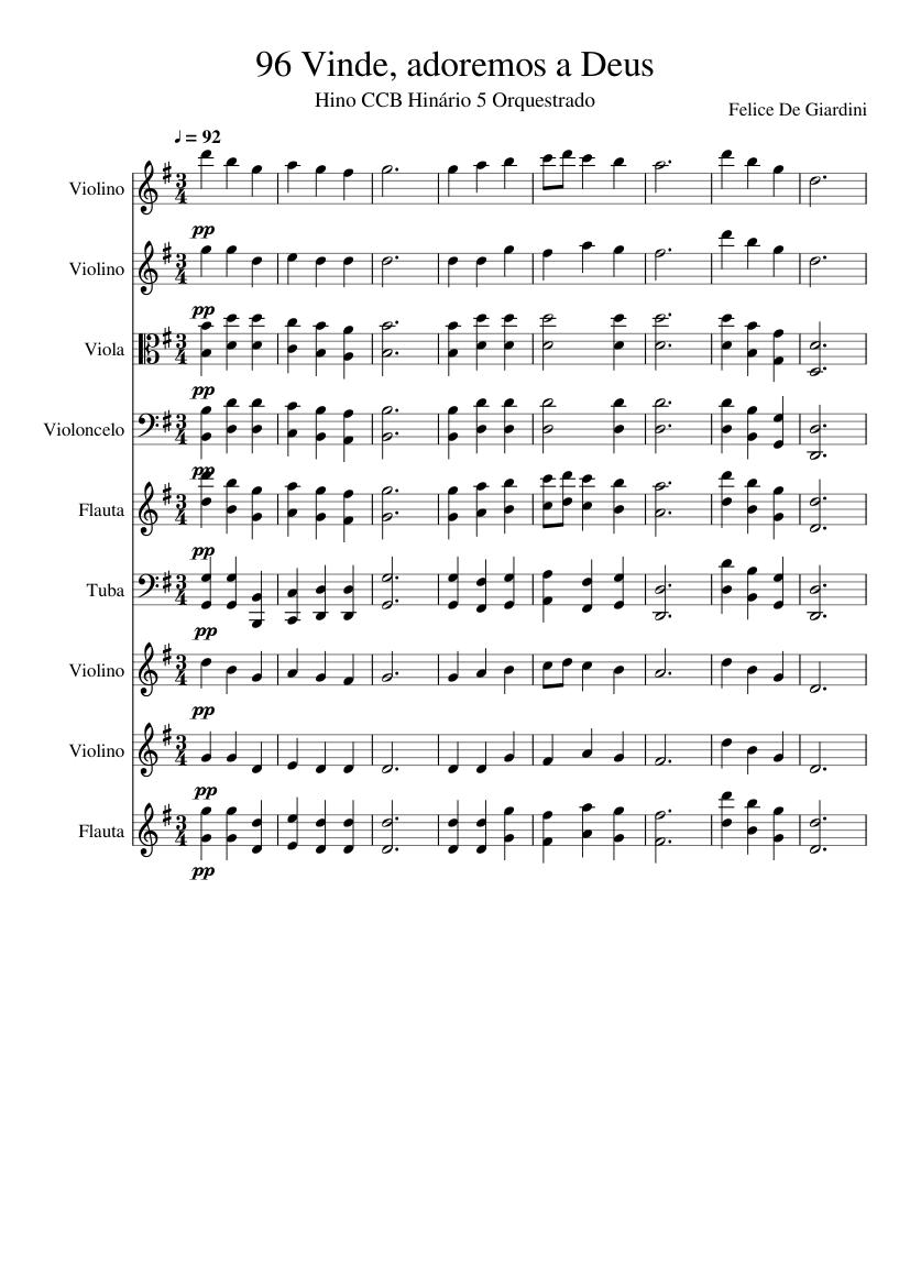 hinos ccb hinario 5 orquestrados