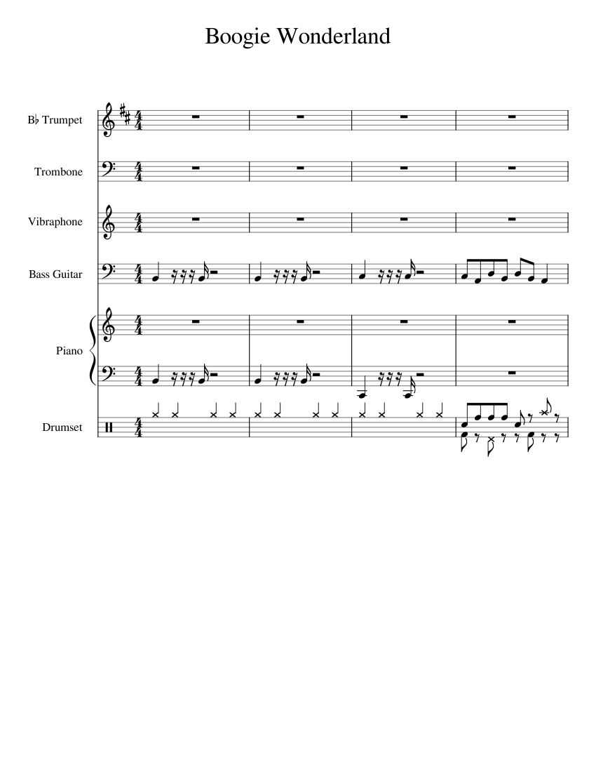 Boogie Wonderland sheet music for orchestra/band