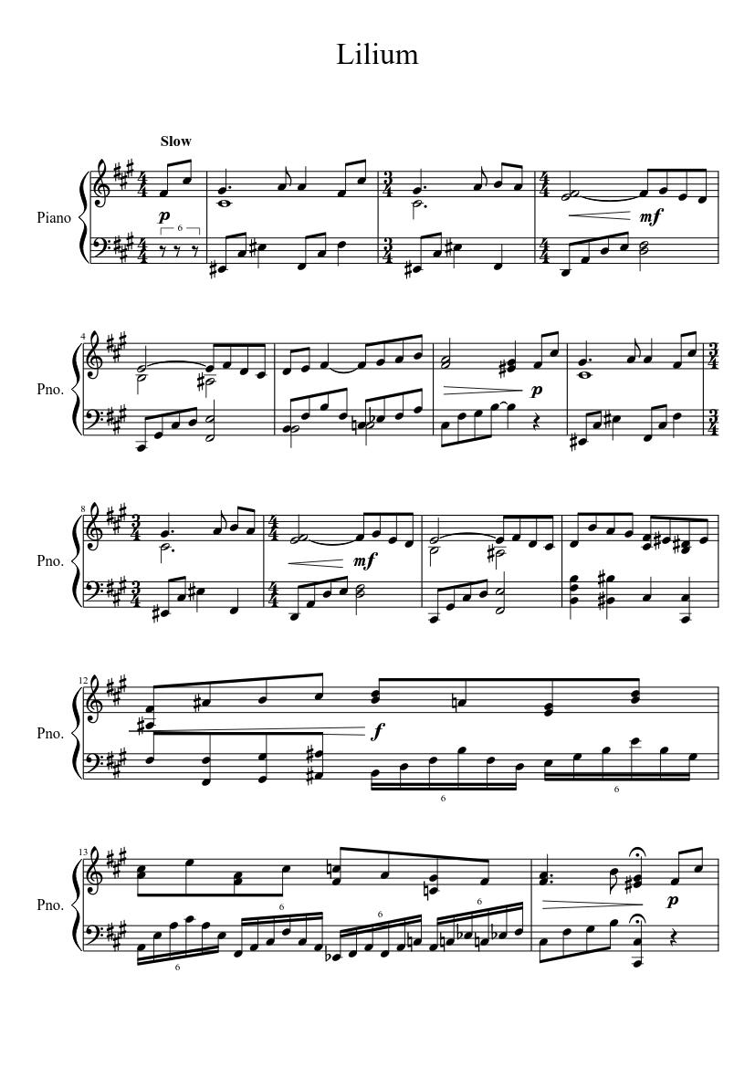 elfen lied lilium midi