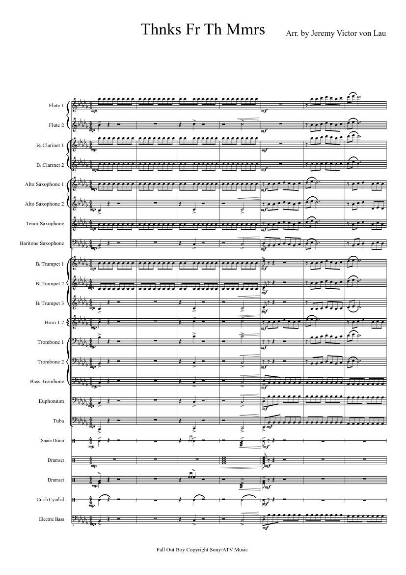 Thnks fr th mmrs sheet music for piano download free in pdf or midi.