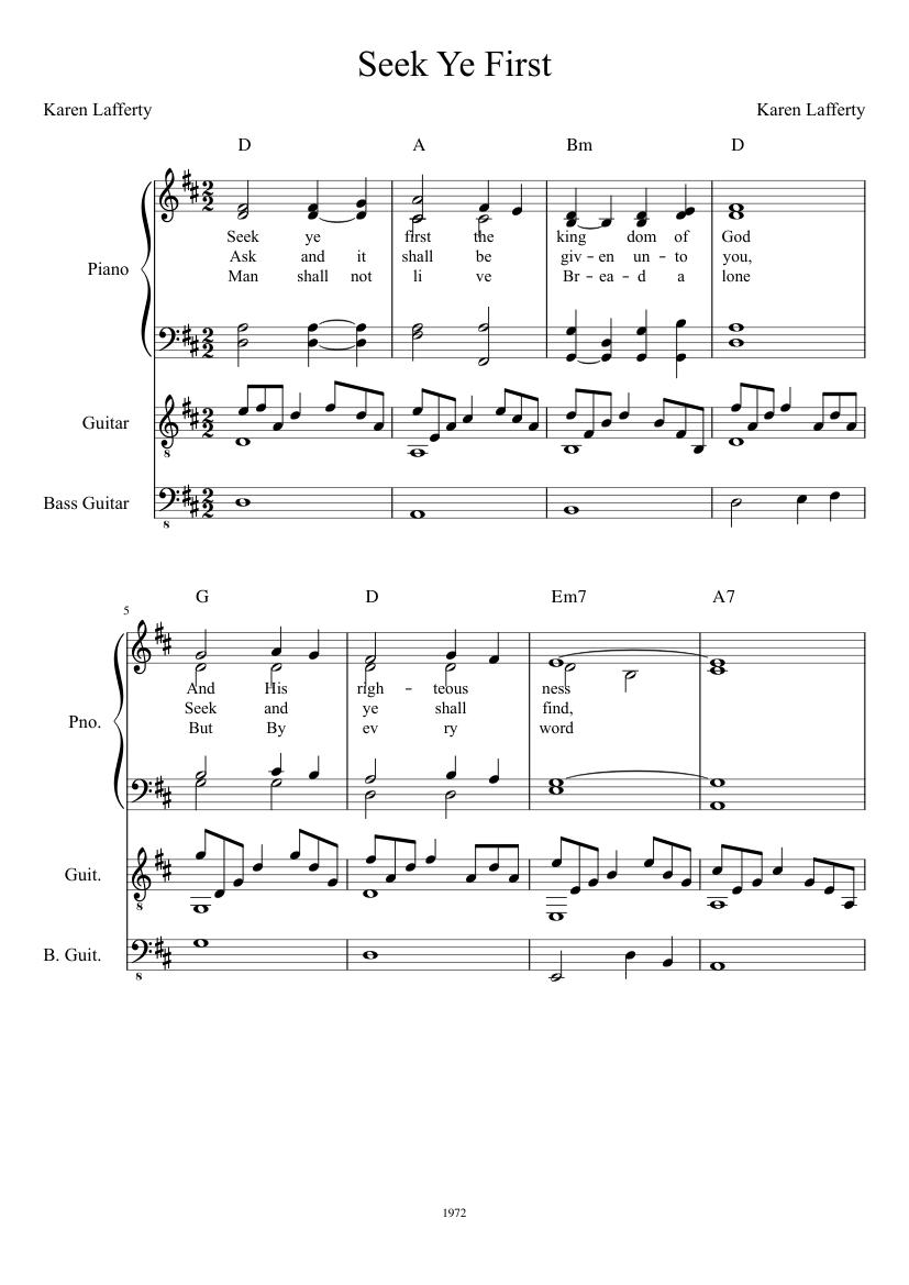 Seek ye first (instrumental) [music download]: maranatha! Singers.