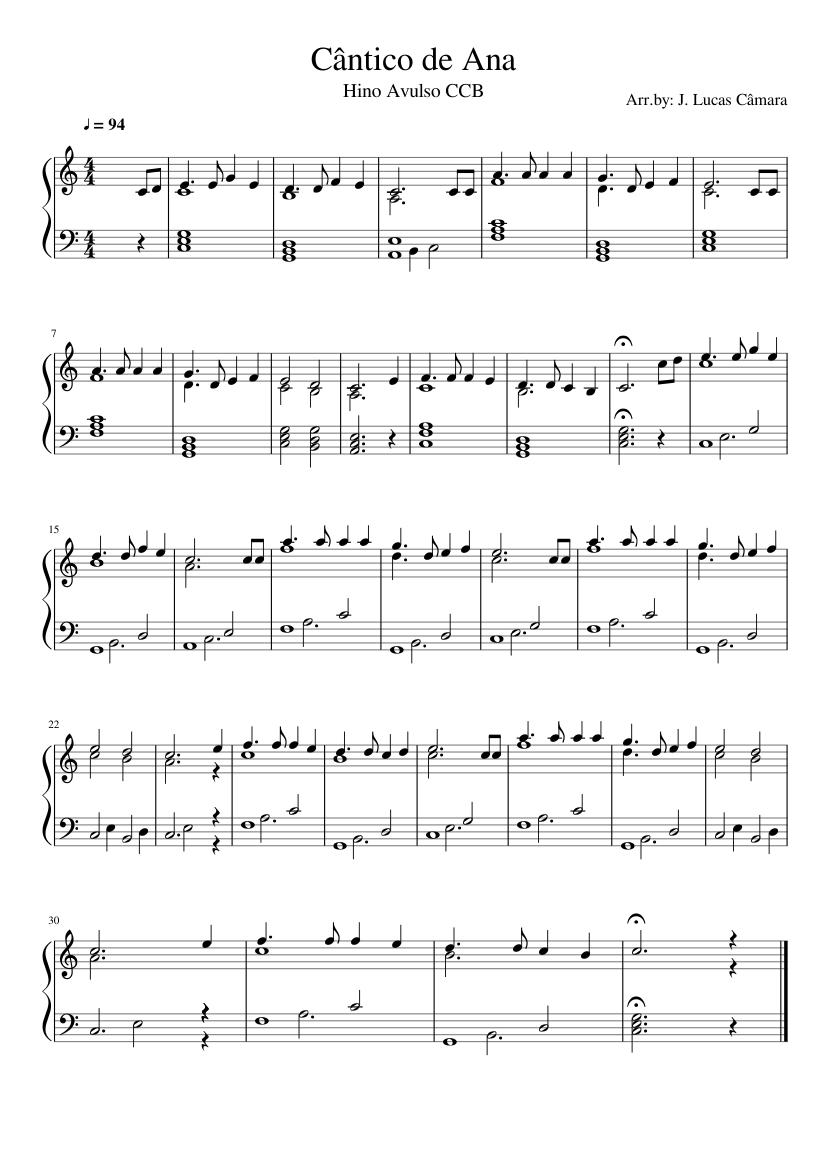 partituras de hinos avulsos da ccb