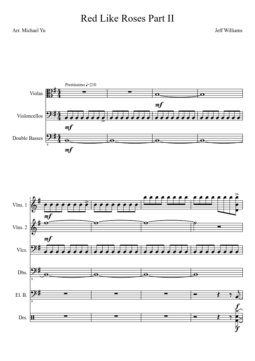 Red Like Roses Part II sheet music download free in PDF or MIDI