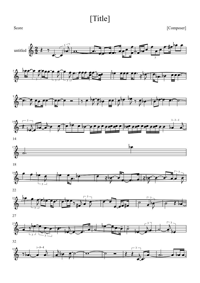 Shugo Chara Tsukiyo No Violinist Sheet Music For Clarinet In B Flat Musescore Com