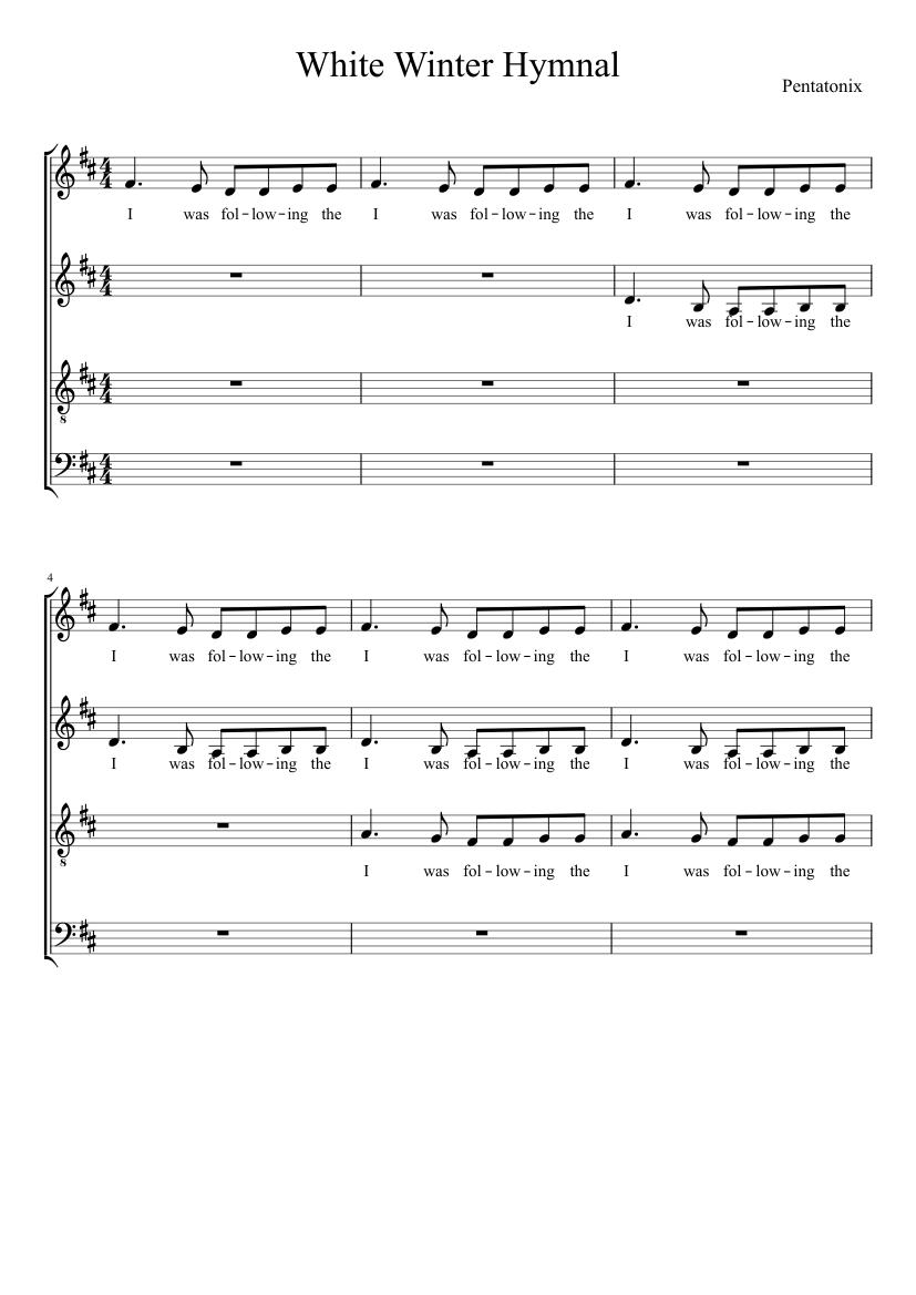 White Winter Hymnal Sheet music for Piano Solo   Musescore.com