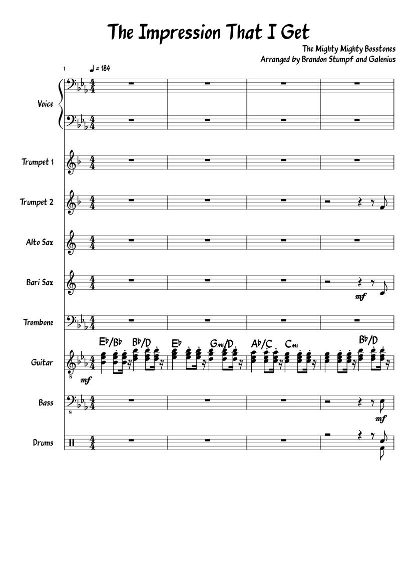 The impression that i get euphonium (baritone) sheet music for.