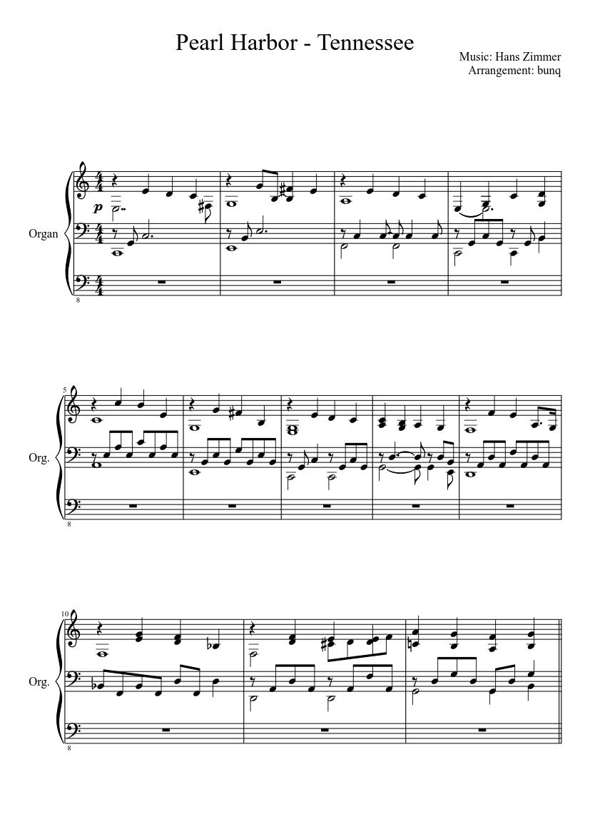 tennessee klaviernoten