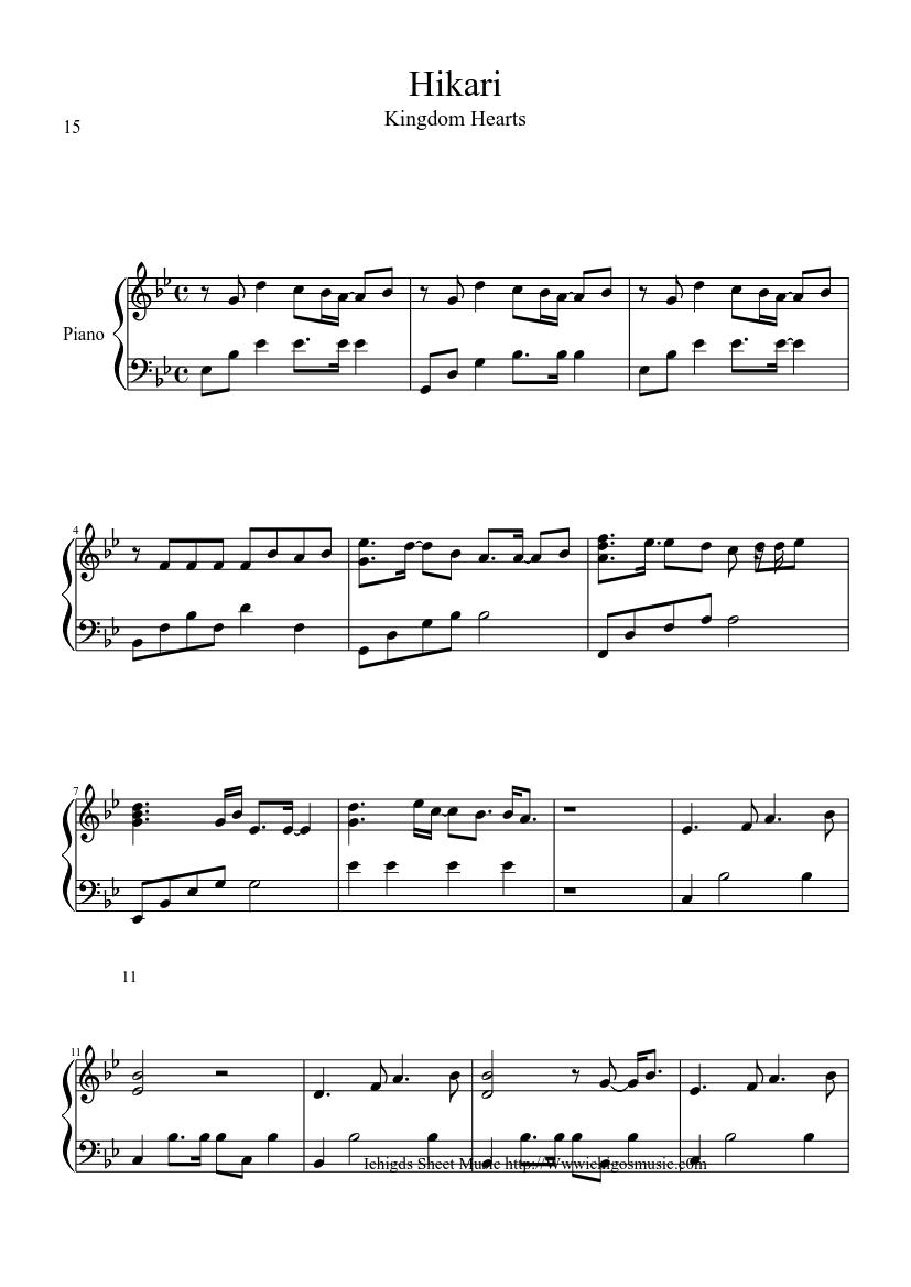 kingdom hearts piano music