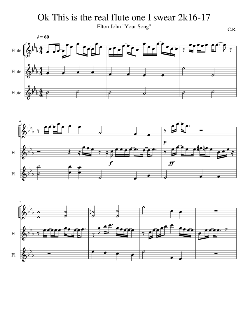 Song of storms flute remix sheet music for flute download free in.