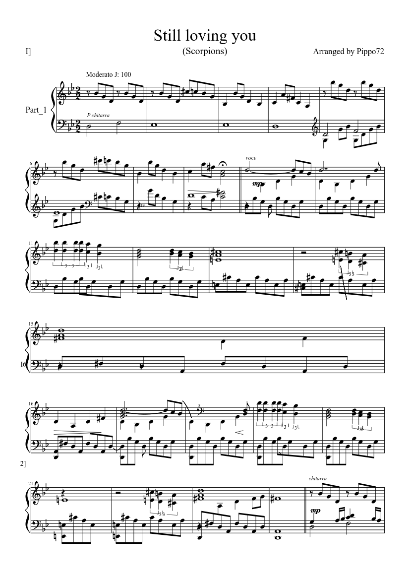 Still loving you scorpions sheet music for piano | download free.