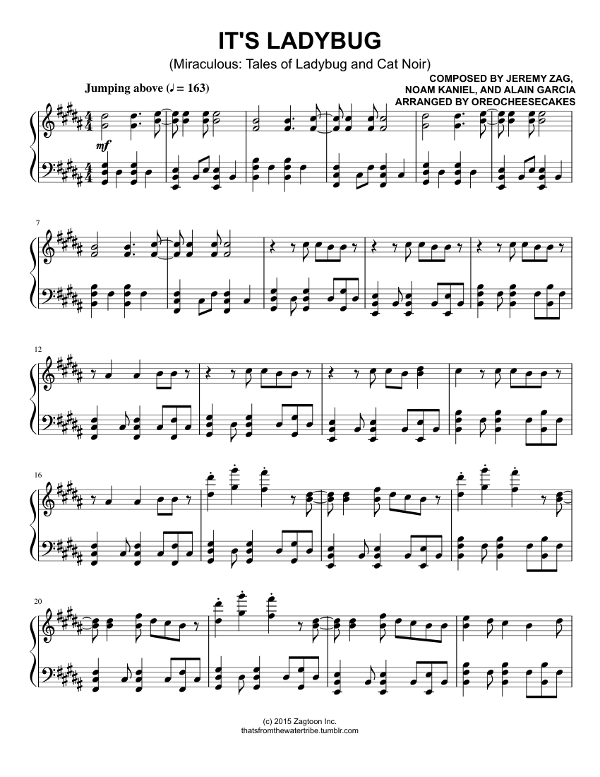 It S Ladybug Sheet Music For Piano Download Free In Pdf Or Midi