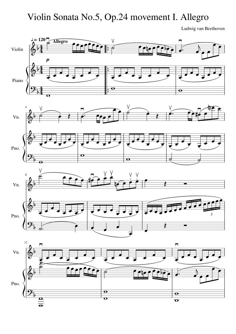 Violin Sonata No. 3, Movement 2 - Piano Score