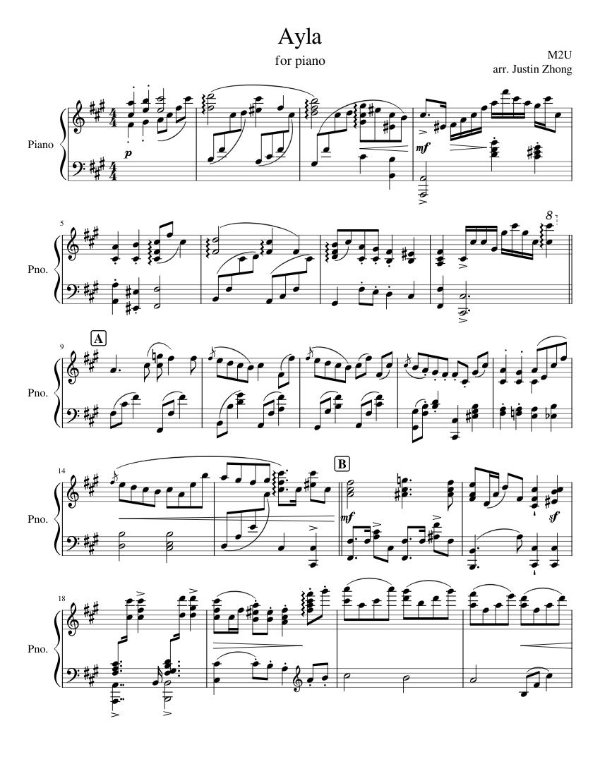 M2U Ayla  piano sheets