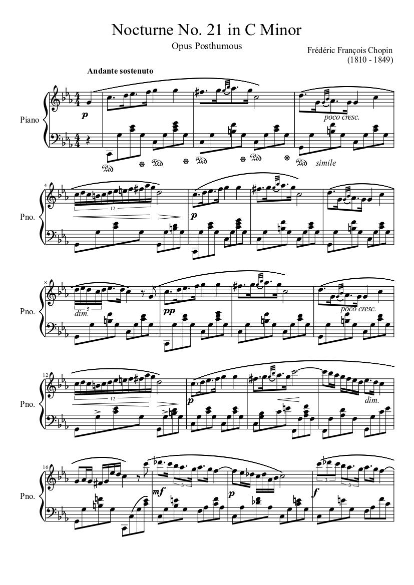 Nocturne in c-sharp minor, op. 27, no. 1 frederic chopin nocturne.