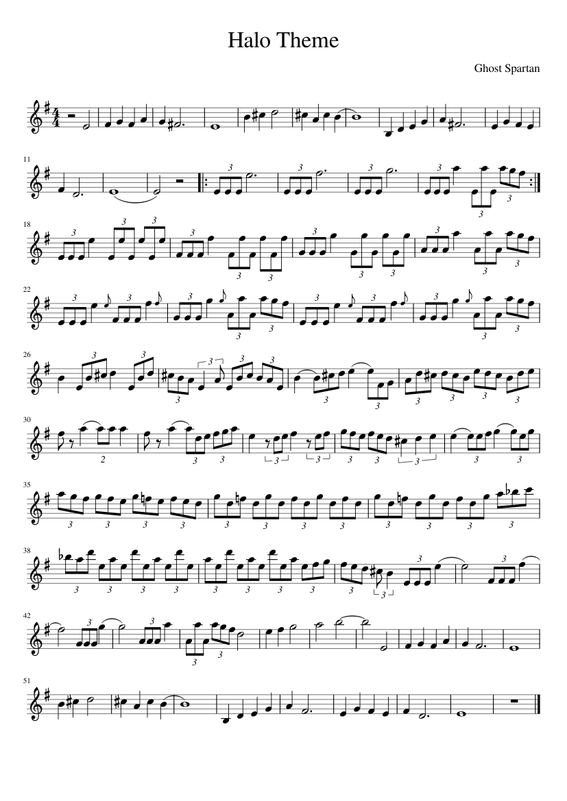 Halo Theme Sheet Music For Violin Download Free In Pdf Or Midi
