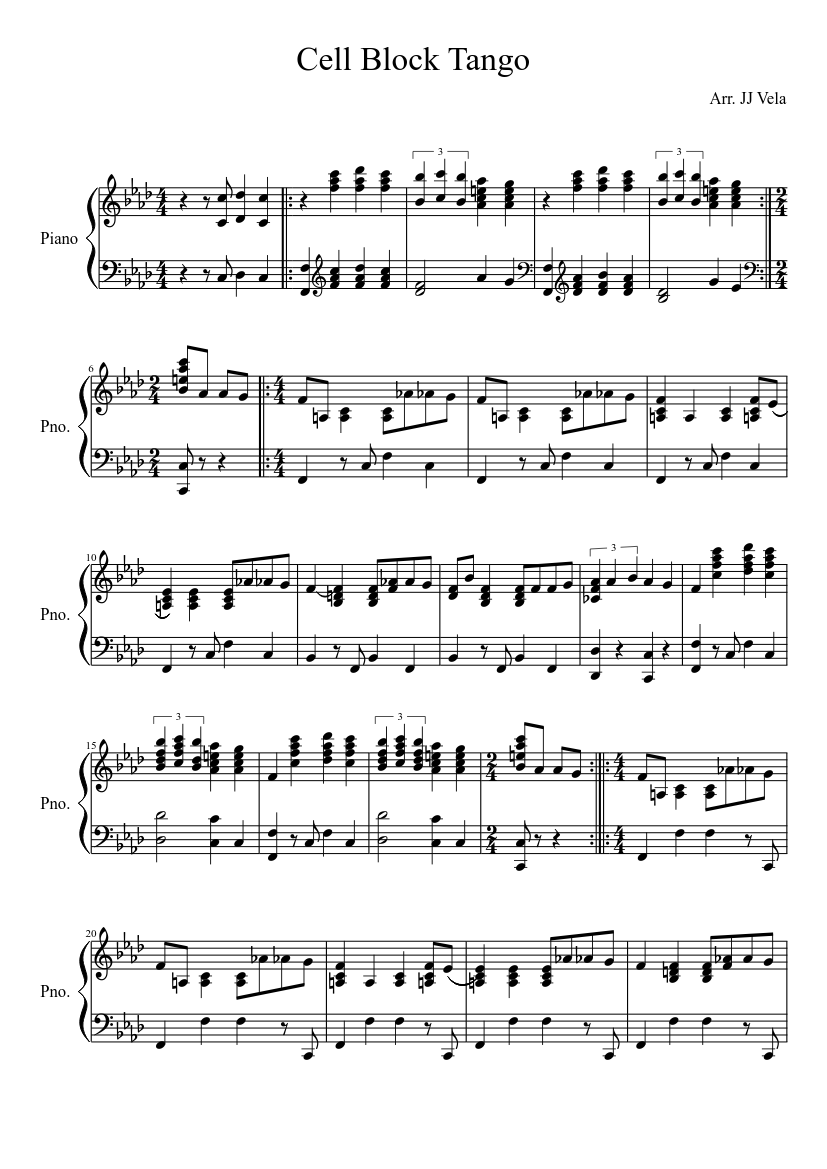Free sheet music: matos, rodriguez gerardo hernan tango la.