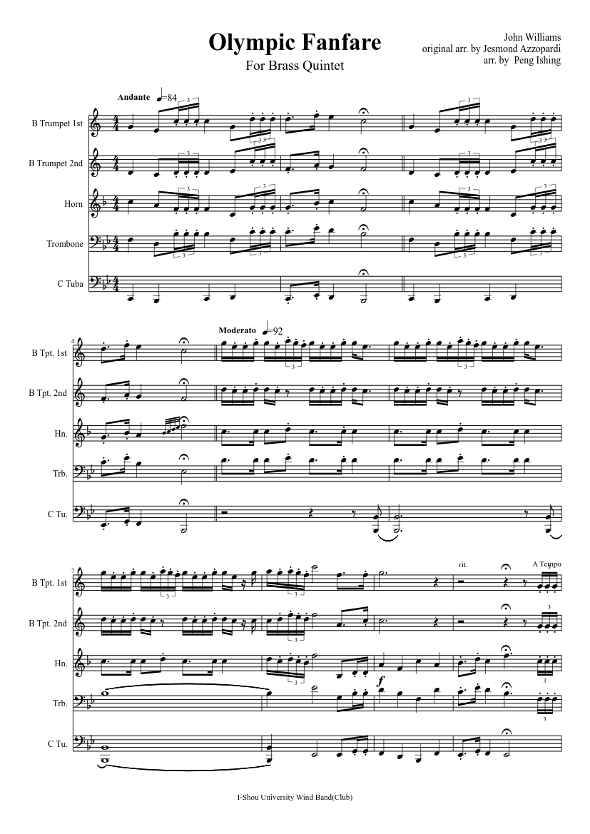 "Olympic fanfare and theme trumpet"" from 'olympic games' sheet."