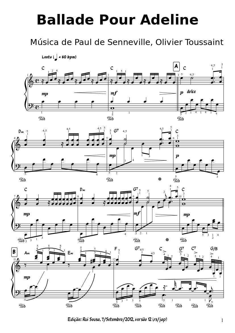 Noten Kostenlos Downloaden Petrucci - Klaviernoten