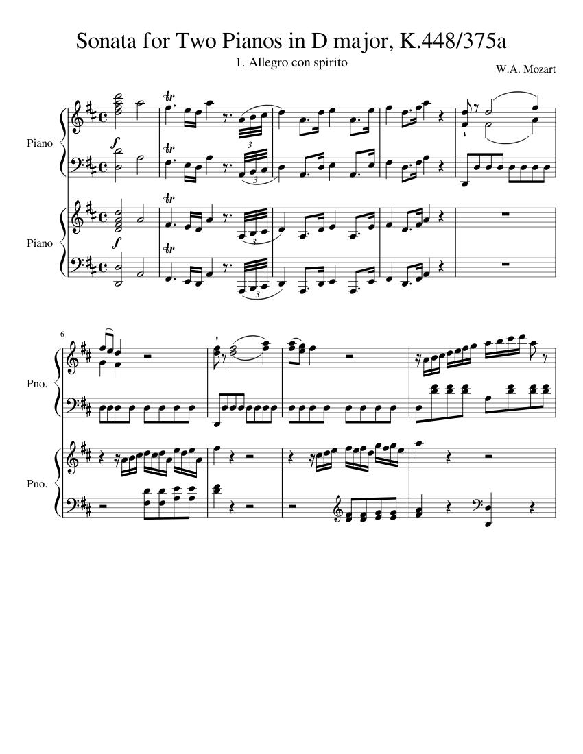 sonata k 448