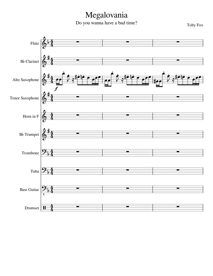 Megolovania Collab Sheet Music For Trumpet In B Flat Trombone Flute Drum Group More Instruments Mixed Ensemble Musescore Com Megolovania might be the final boss theme, and thus if genocide was the same as no mercy nuteral, asriel dreemurr might have megalovania as his boss theme. megolovania collab sheet music for