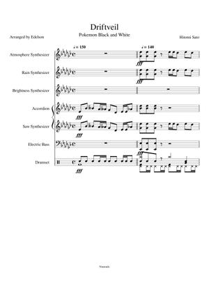 Sheet Music Musescore Com Listen to music from driftveil city like pokémon black & white music extended, pokémon black/white & more. sheet music musescore com