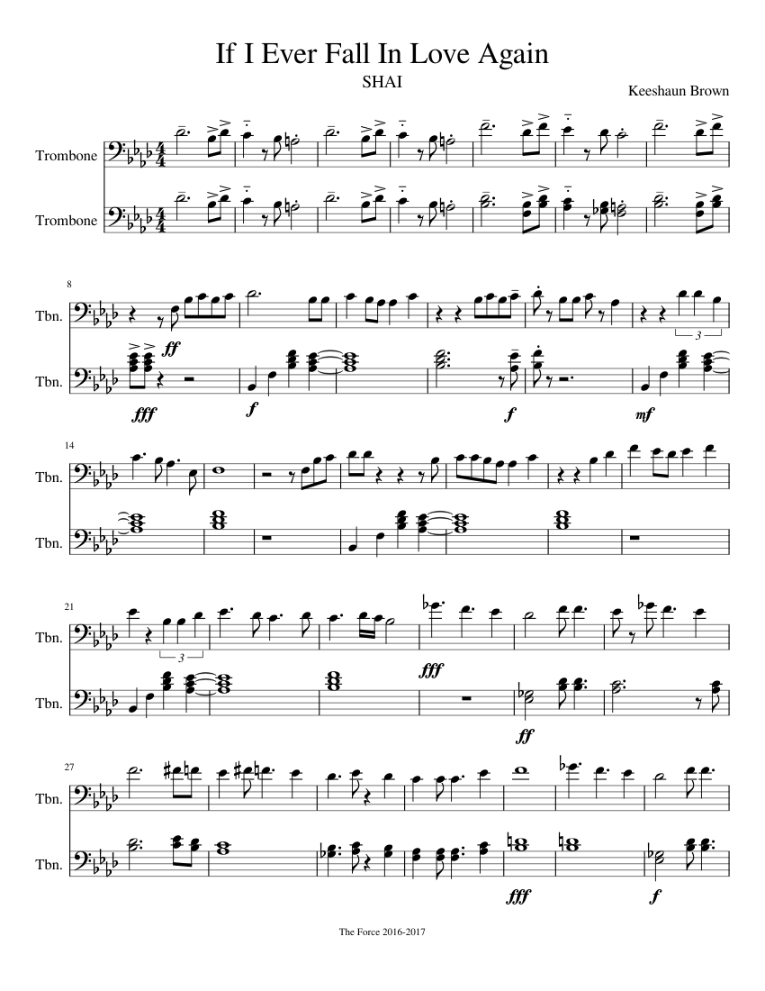 If I Ever Fall In Love Again Sheet Music Download Free In Pdf Or Midi