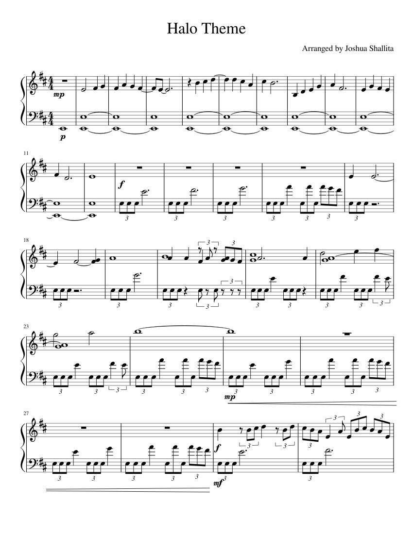 Halo Theme Trumpet Easy