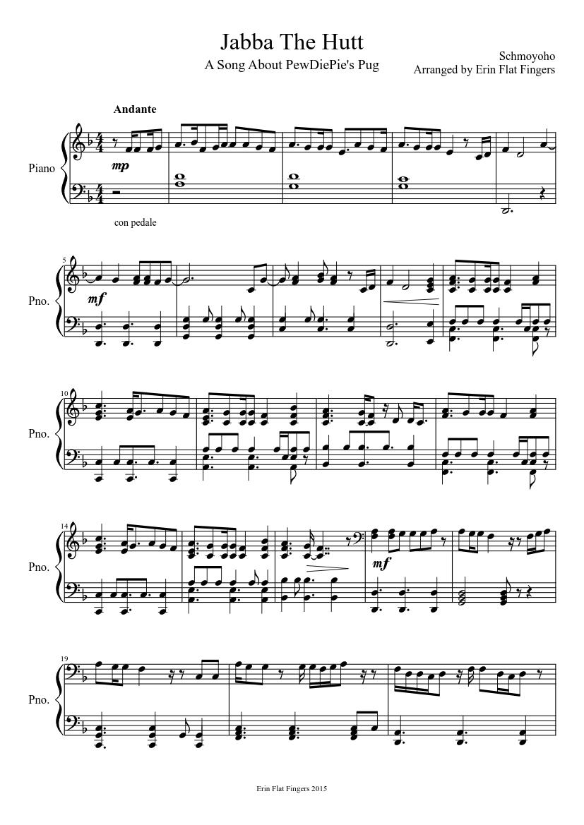 jabba the hutt pewdiepie song by schmoyoho