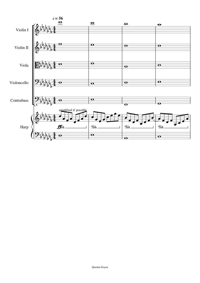 Some random chords Sheet music for Violin, Cello, Viola ...