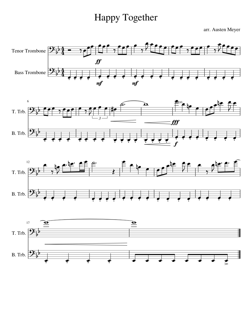 Download happy together sheet music by the turtles sheet music plus.