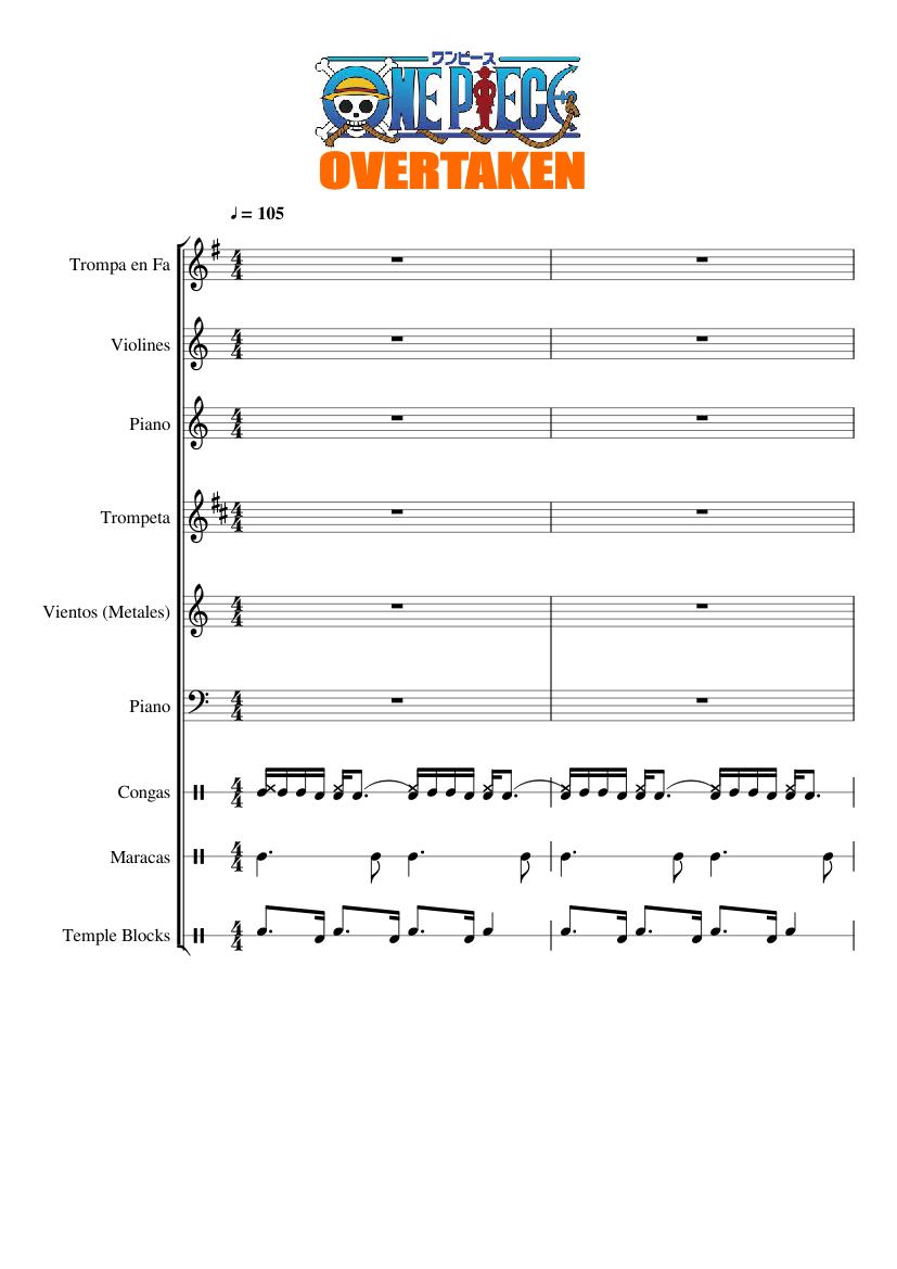 music one piece overtaken