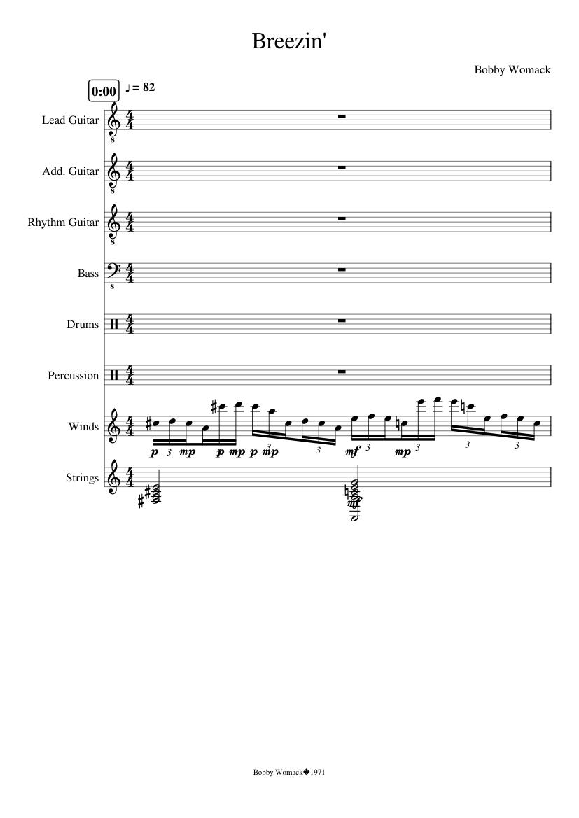 Breezin-George Benson Sheet music for Bass, Drum (Other), Strings ...