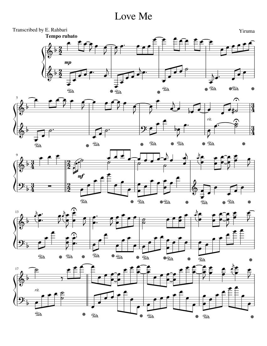 Yiruma Love Me Sheet Music Pdf