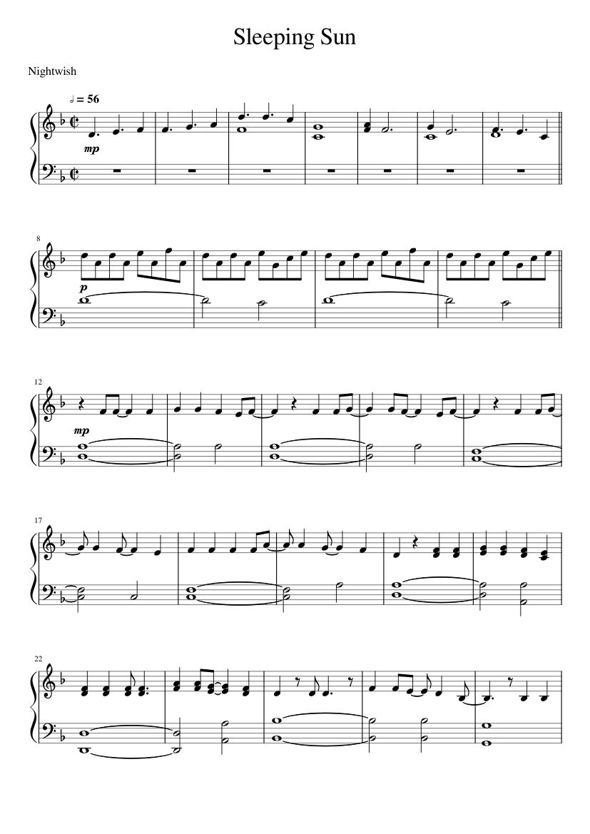 Seeping sun by nightwish for choir sheet music download free in.