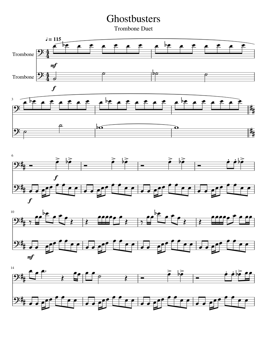 Ghostbusters sheet music for cello download free in pdf or midi.