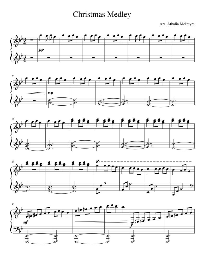 Christmas Medley Sheet Music For Piano Solo Musescore Com