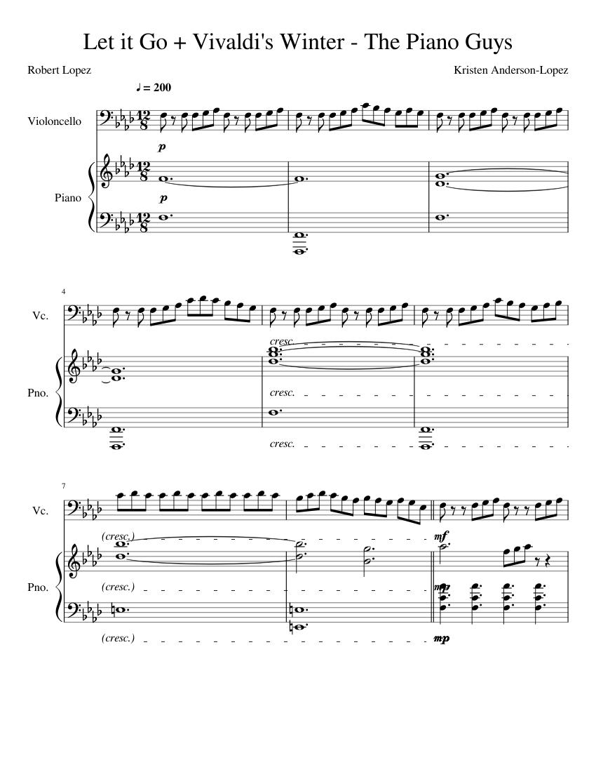 Download let it go violin 1 sheet music by idina menzel sheet.