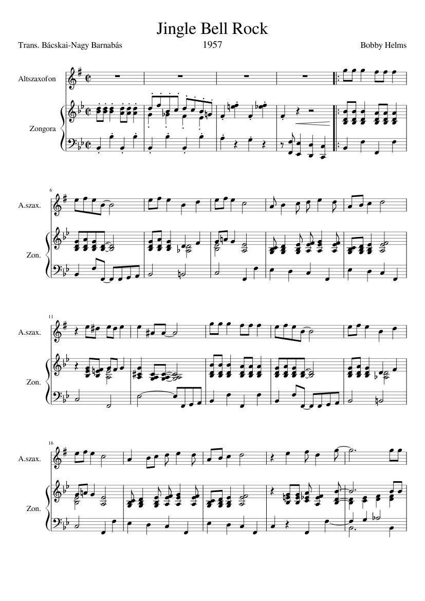 jingle bell rock sheet music free