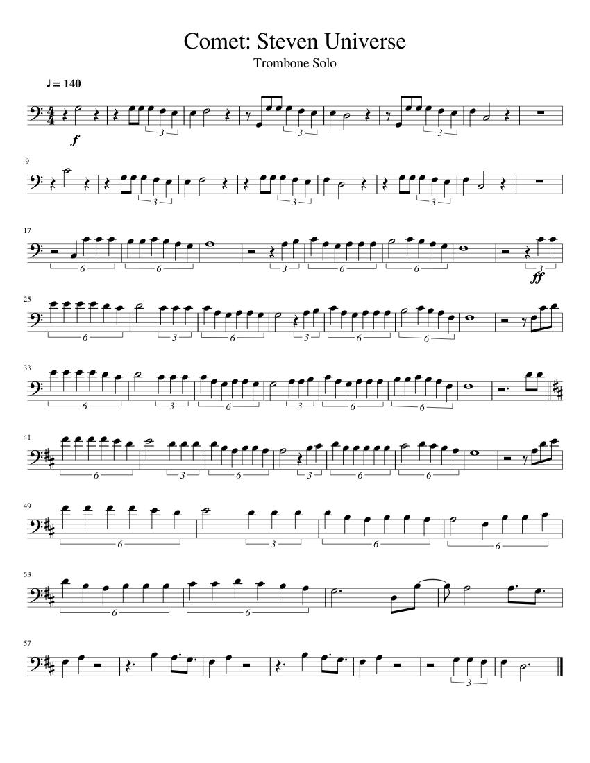 Comet: Steven Universe - Trombone Solo sheet music for Trombone