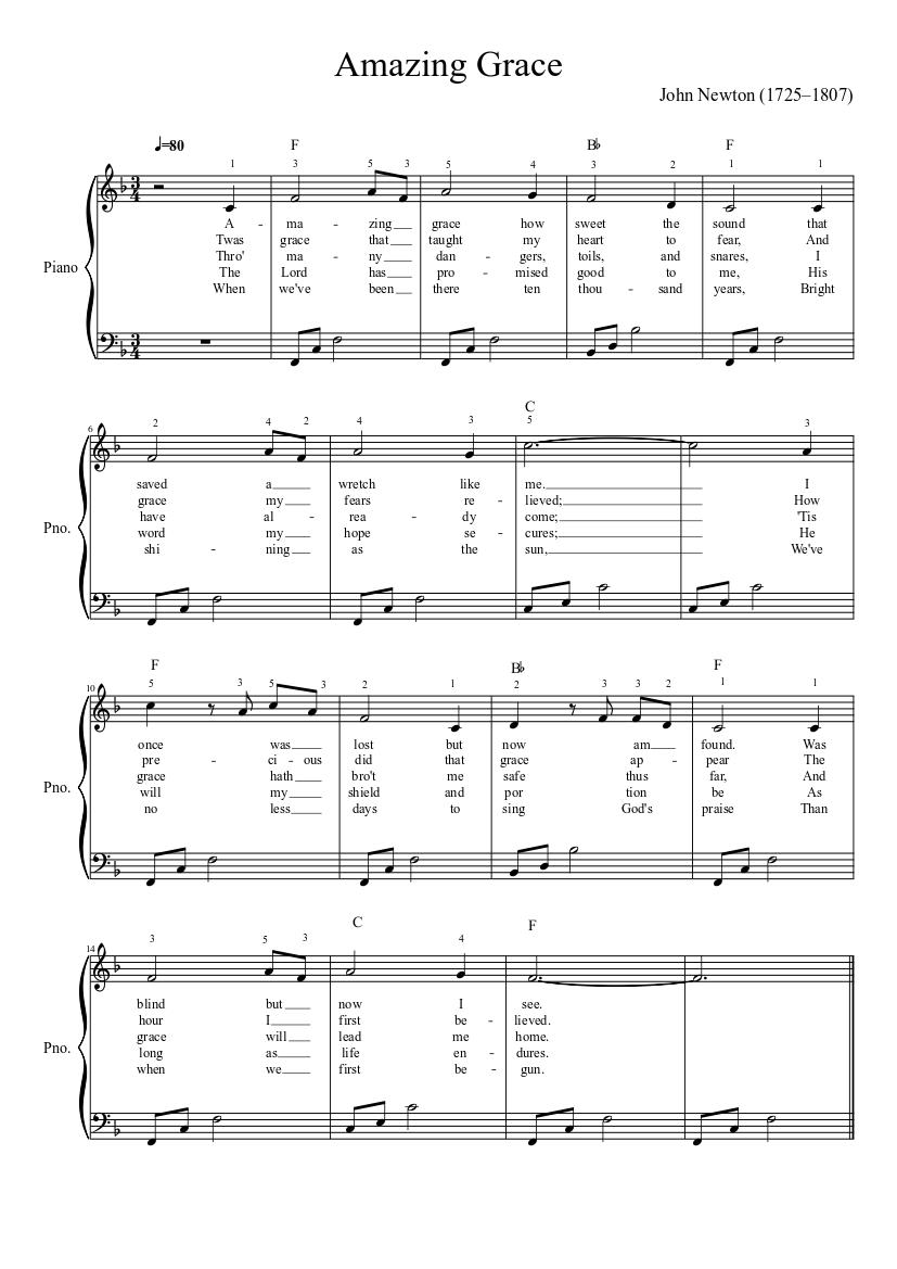 Amazing Grace Lyrics Pdf