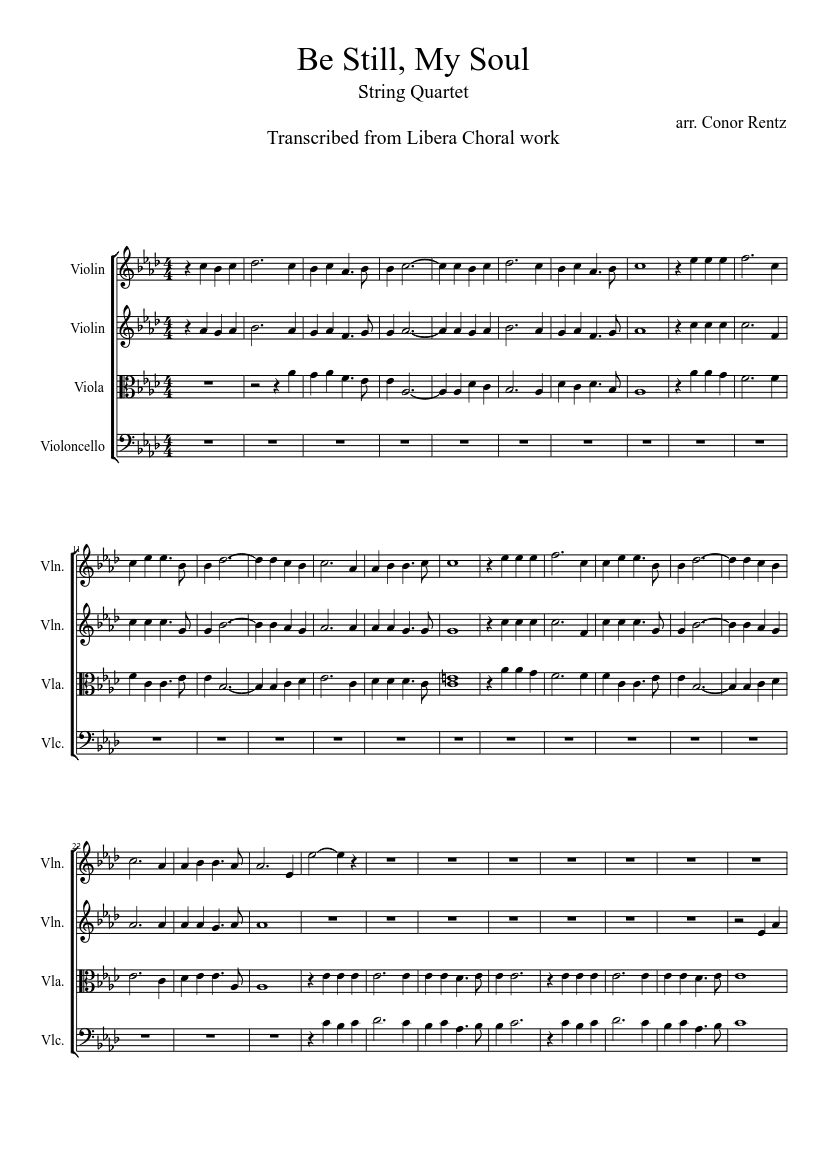 Be Still My Soul Sheet Music Download Free In Pdf Or Midi