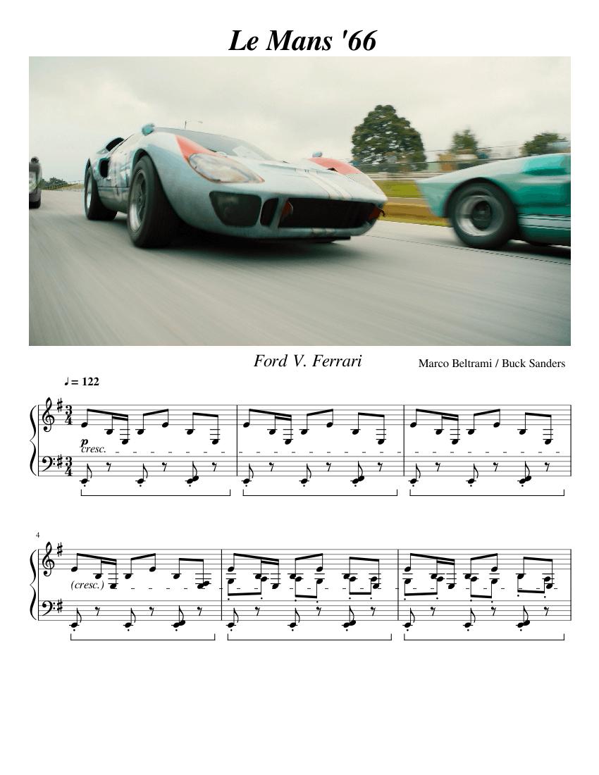 Le Mans 66 Sheet Music For Piano Solo Musescore Com