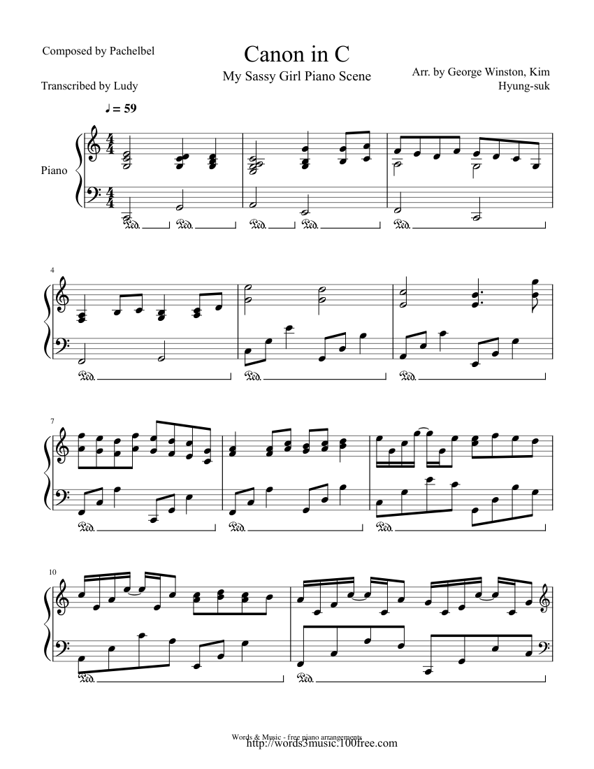 Think, My sassy girl guitar tabs
