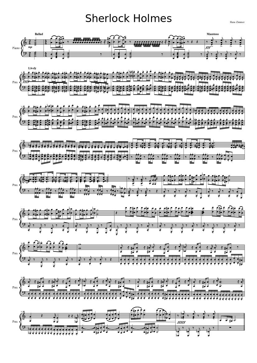 Sherlock Holmes Sheet Music Download Free In Pdf Or Midi