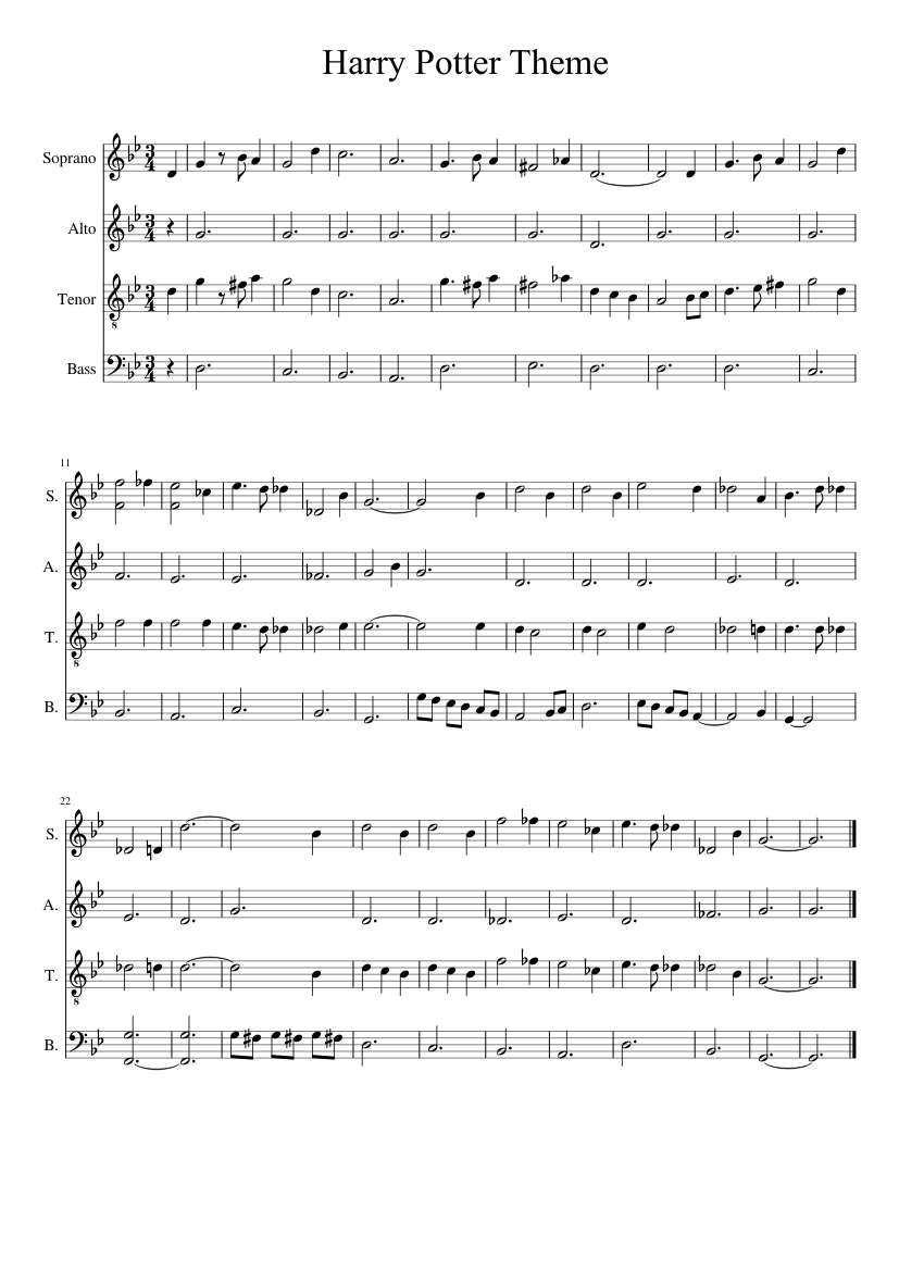 Harry potter hedwig's theme eb sheet music – guitar chords.