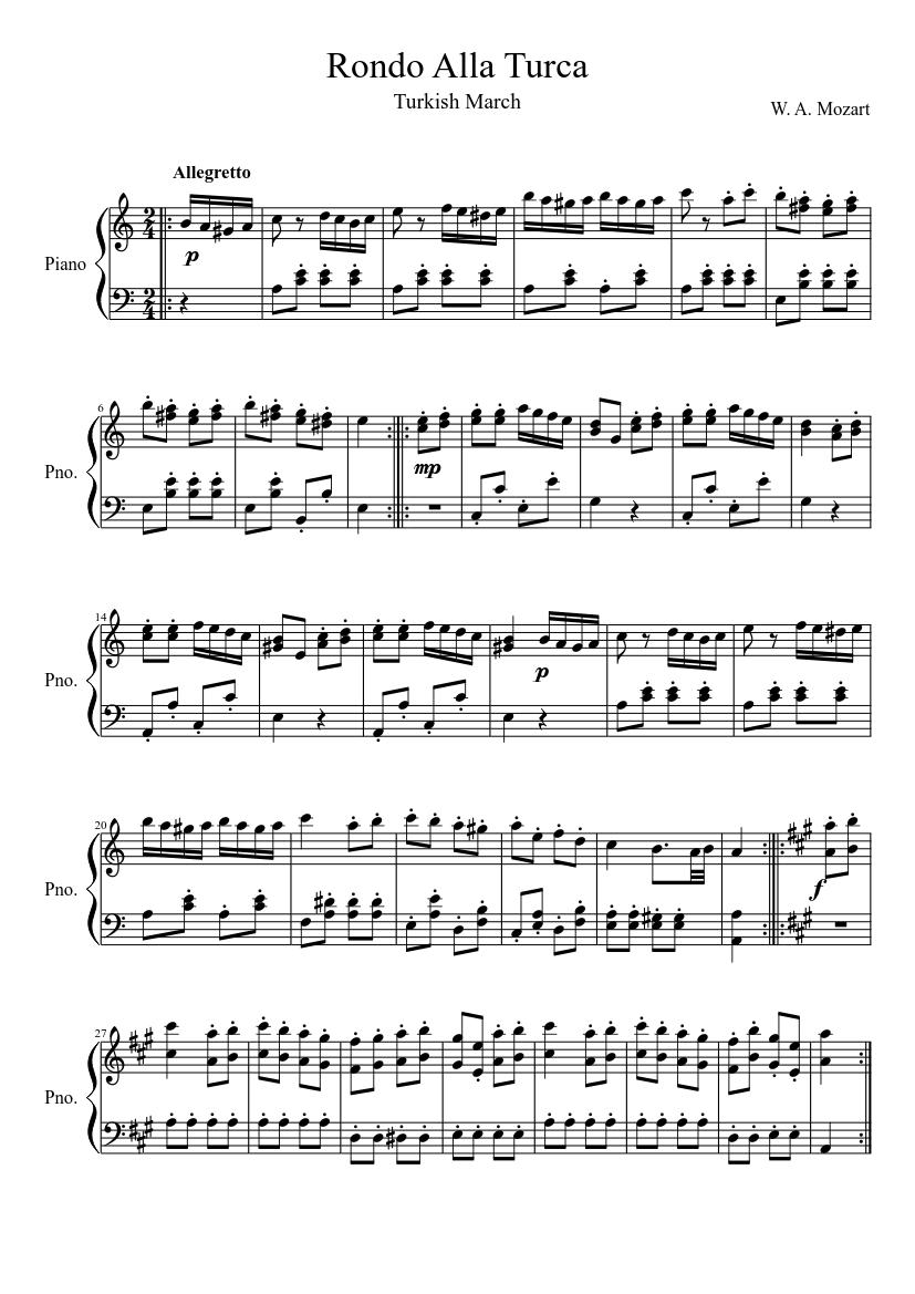 Alla Turca Mozart rondo alla turca - piano tutorial
