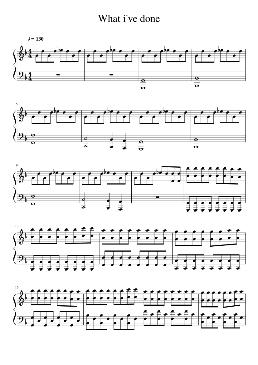 What i've done Sheet music for Piano (Solo) | Musescore.com