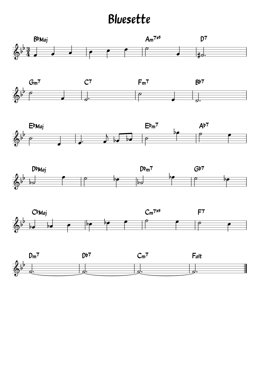 Bluesette Piano Pdf