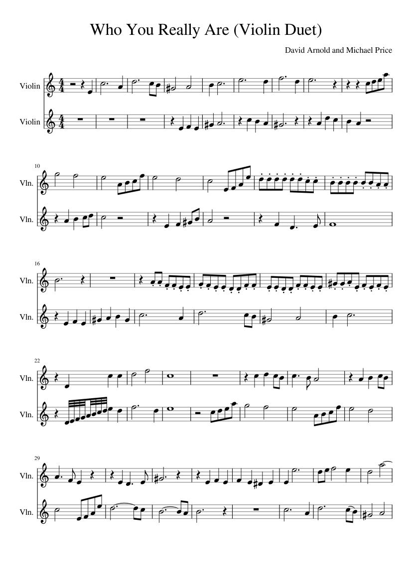 sherlock - who you really are - violin duet sheet music for violin (string  duet)   musescore.com  musescore.com