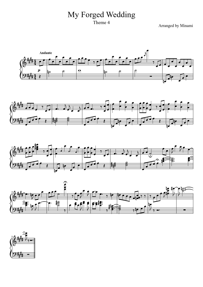 Wedding march theme and variations sheet music for piano download.